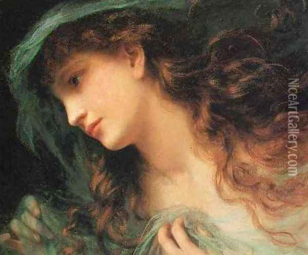 Head of a Nymph Oil Painting - Sophie Gengembre Anderson