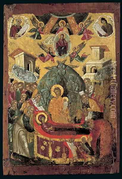 The Dormition of the Virgin Oil Painting - Anonymous Artist