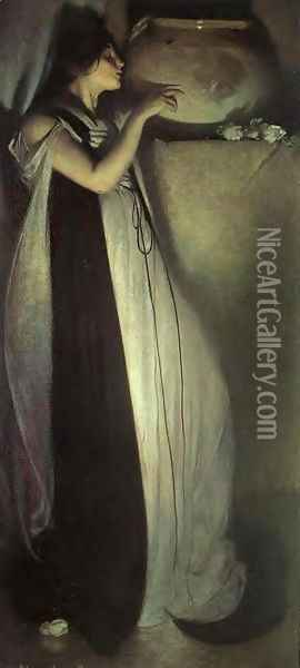 Isabella And The Pot Of Basil 1897 Oil Painting - John White Alexander