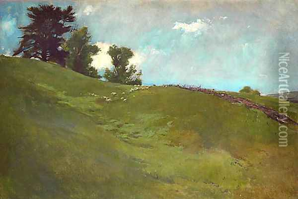 Landscape, Cornish, N.H. Oil Painting - John White Alexander