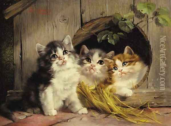 Friendly shelter Oil Painting - Julius Adam