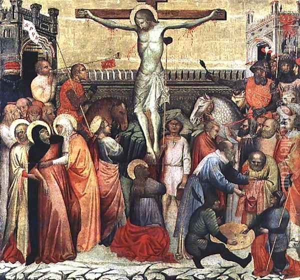 The Crucifixion Oil Painting - Altichiero da Zevio
