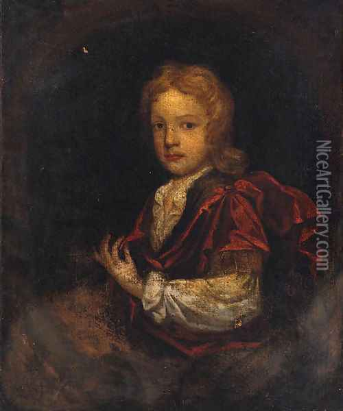 Portrait Of A Boy Oil Painting - Charles d' Agar