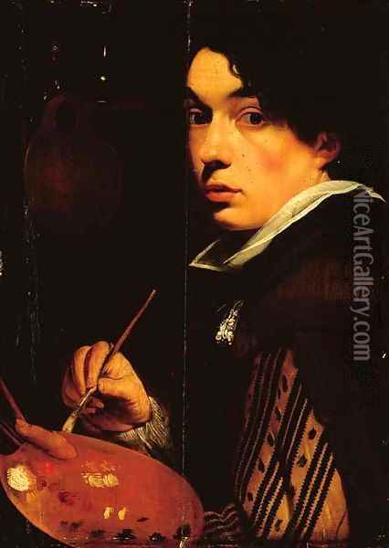 Portrait of the artist as a young man Oil Painting - School Of Antwerp