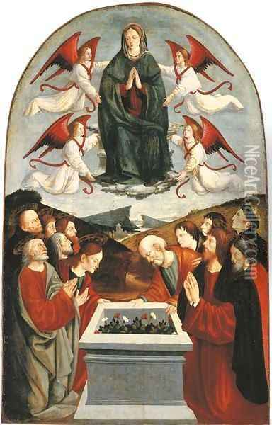 The Assumption of the Virgin Oil Painting - The Master Of San Martino Alfieri