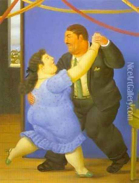 Dancers 1997 Oil Painting - Fernando Botero