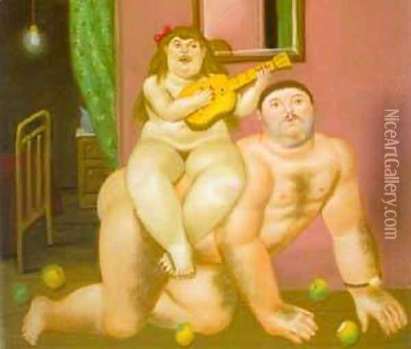 Untitled 1994 Oil Painting - Fernando Botero