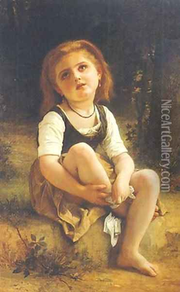The Little Wound Oil Painting - William-Adolphe Bouguereau