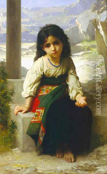 La Petite Mendiante Oil Painting - William-Adolphe Bouguereau