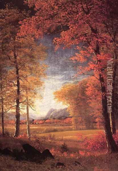 Autumn In America Oneida County New York Oil Painting - Albert Bierstadt