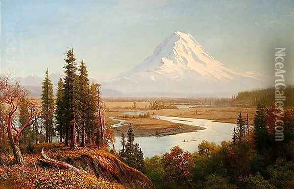 Mount Rainier Oil Painting - Albert Bierstadt