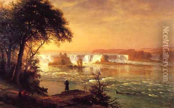 The Falls Of St Anthony Oil Painting - Albert Bierstadt