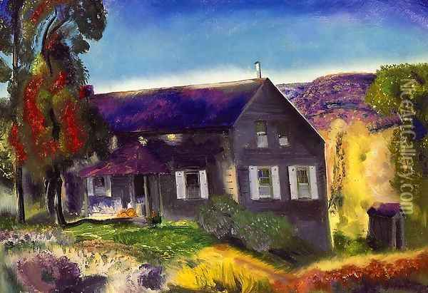 Black House Oil Painting - George Wesley Bellows