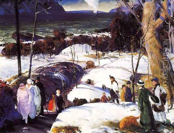 Easter Snow Oil Painting - George Wesley Bellows