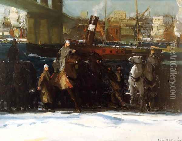 Snow Dumpers Oil Painting - George Wesley Bellows