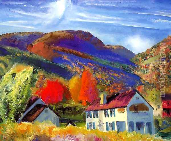 My House Woodstock Oil Painting - George Wesley Bellows
