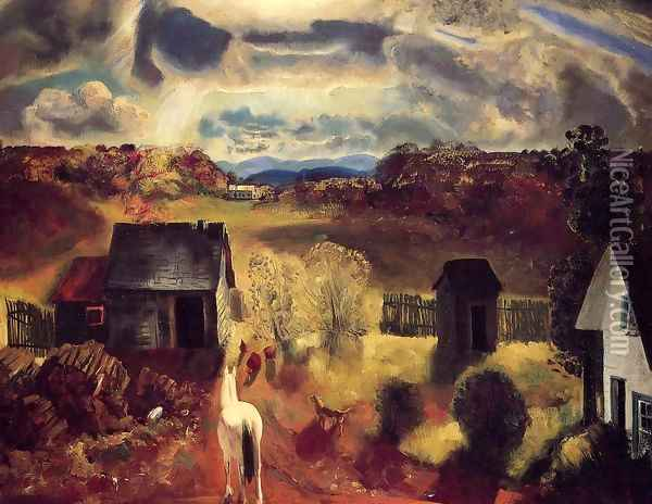 The White Horse Oil Painting - George Wesley Bellows