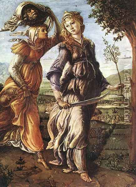 The Return of Judith to Bethulia c. 1472 Oil Painting - Sandro Botticelli