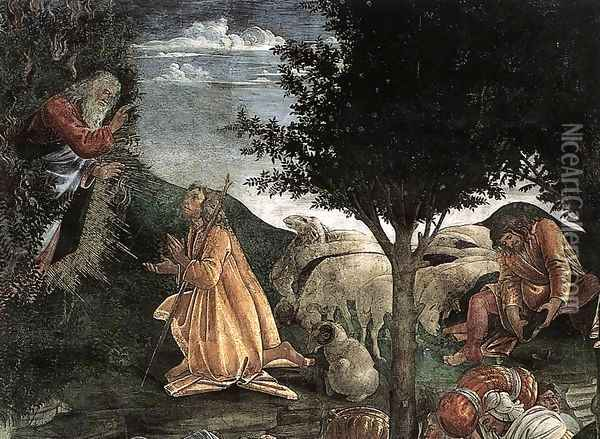 Scenes from the Life of Moses [detail: 2] Oil Painting - Sandro Botticelli