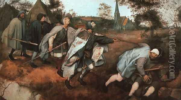 The Parable of the Blind Leading the Blind Oil Painting - Pieter the Elder Bruegel