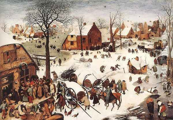The Numbering at Bethlehem 1566 Oil Painting - Pieter the Elder Bruegel
