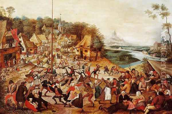 The Dance around the May Pole Oil Painting - Pieter the Elder Bruegel