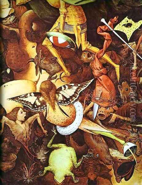 The fall of the rebel angels (detail 2) Oil Painting - Pieter the Elder Bruegel