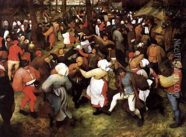 Wedding Dance in the Open Air Oil Painting - Pieter the Elder Bruegel