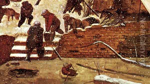 Adoration of the Kings in the Snow (detail) Oil Painting - Pieter the Elder Bruegel
