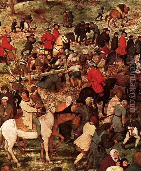 Christ Carrying the Cross (detail) 2 Oil Painting - Pieter the Elder Bruegel