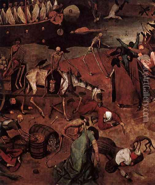 The Triumph of Death (detail) 2 Oil Painting - Pieter the Elder Bruegel