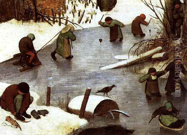 The Census at Bethlehem (detail) 5 Oil Painting - Pieter the Elder Bruegel