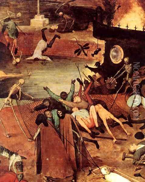 The Triumph of Death (detail) 4 Oil Painting - Pieter the Elder Bruegel