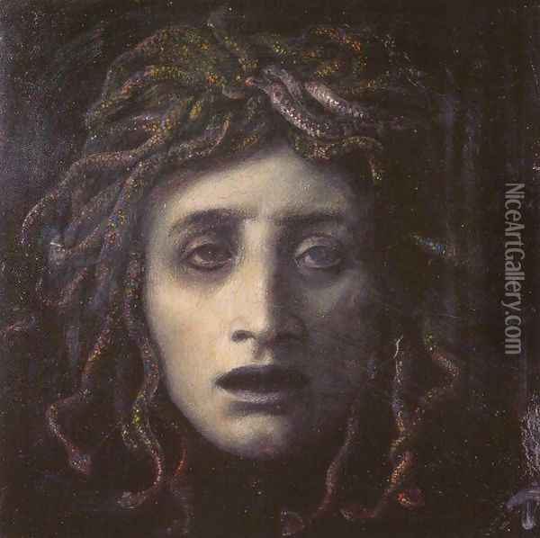 Medusa Oil Painting - Arnold Bocklin
