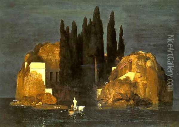 The Isle of the Dead, 1880 (2) Oil Painting - Arnold Bocklin
