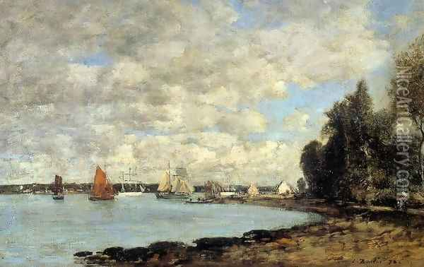Bay of Plougastel Oil Painting - Eugene Boudin