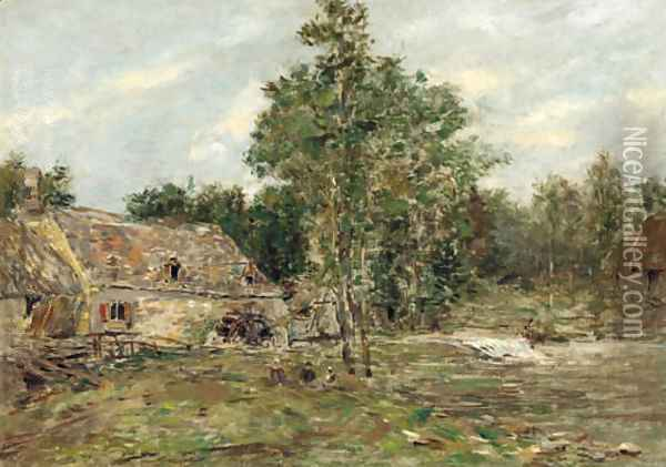 Saint-Cenery, Le moulin Oil Painting - Eugene Boudin
