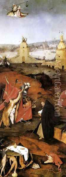 Triptych of Temptation of St Anthony (right wing) Oil Painting - Hieronymous Bosch