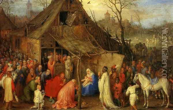 The Adoration of the Magi II Oil Painting - Jan The Elder Brueghel