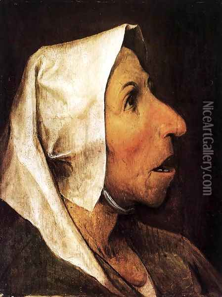 Portrait of an Old Woman 1564 Oil Painting - Jan The Elder Brueghel
