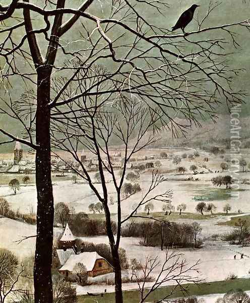 The Hunters in the Snow (detail) 1565 2 Oil Painting - Jan The Elder Brueghel