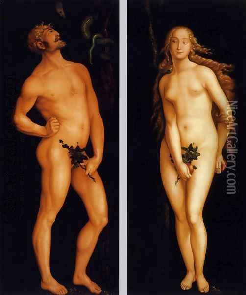 Adam and Eve 1524 Oil Painting - Hans Baldung Grien