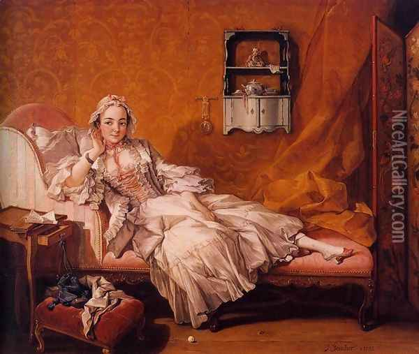 Madame Boucher 1743 Oil Painting - Francois Boucher