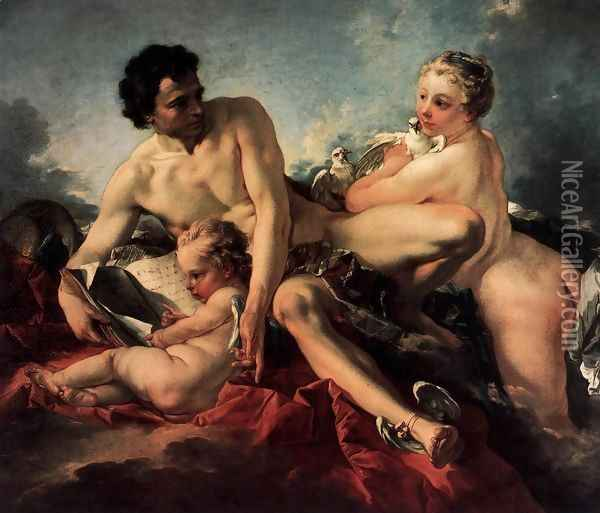 The Education of Cupid Oil Painting - Francois Boucher