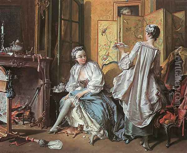 The Toilet Oil Painting - Francois Boucher