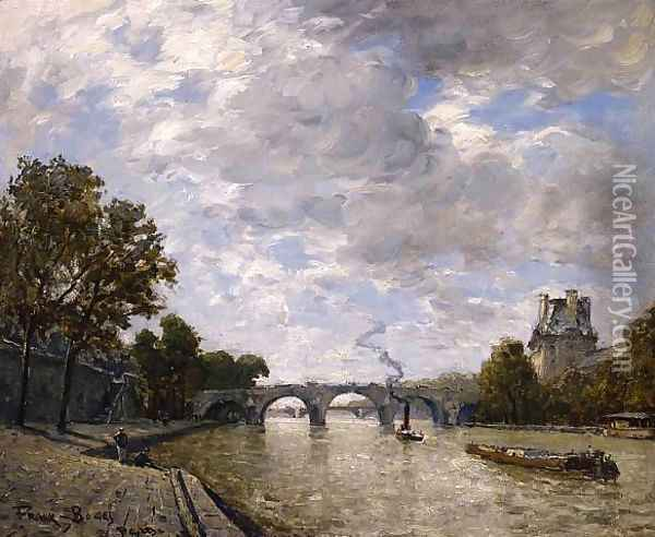 Along the Seine, Paris Oil Painting - Frank Myers Boggs