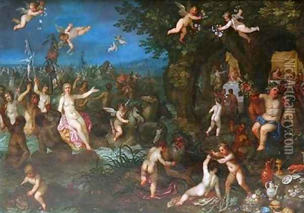 The Wedding of Bacchus and Ariane Oil Painting - Hendrik van Balen