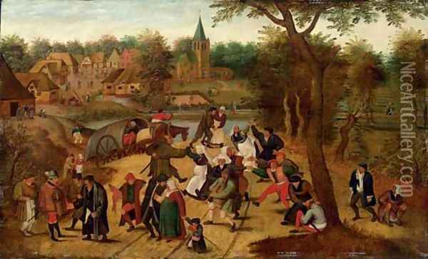 The return from the Kermesse Oil Painting - Pieter The Younger Brueghel