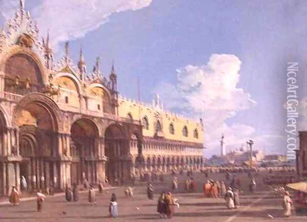 View of Venice with St Marks Oil Painting - (Giovanni Antonio Canal) Canaletto