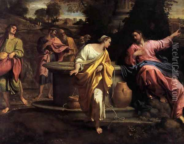 The Samaritan Woman at the Well Oil Painting - Annibale Carracci